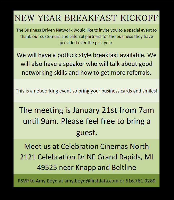 Networking Meeting Invite